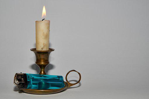 Candle, Brand, Candlestick, Candlelight, Flare-up