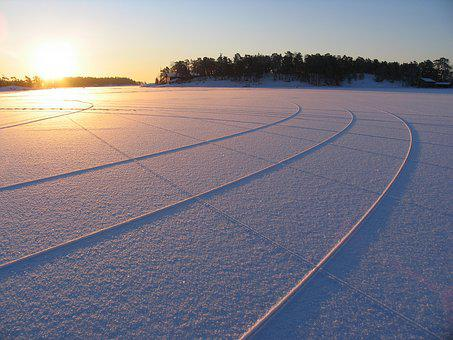 Nature, Water, Frozen, Ice, Sunset, Outdoors, Landscape