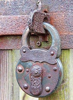 Close, Iron, Door, Input, Old, Rusty, Castle, Colorful