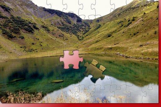 Texture, Puzzle, France, Alps, Nature, Landscape