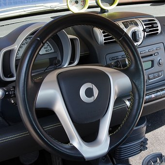 Auto, Smart, Dashboard, Steering Wheel, Leather