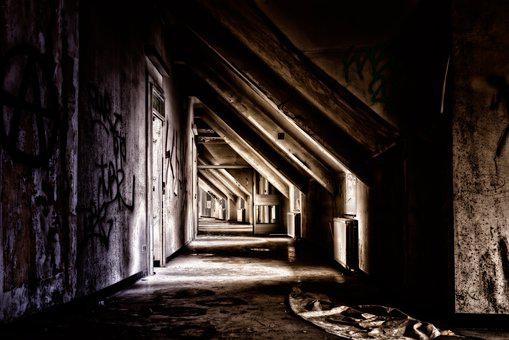 Home, Attic, Masonry, Roof Truss, Old, Lost Places