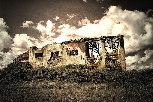 Abandoned, Outdoors, Nature, Horizontal, Landscape