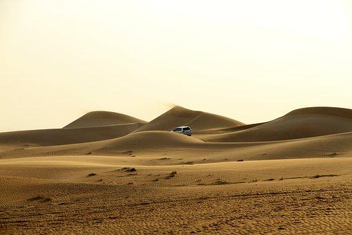 Desert, Sand, Landscape, Panoramic, Nature, Sunset, Sea