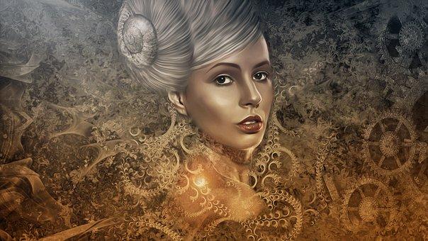 Gothic, Dark, Steampunk, Portrait, Woman, Female, Young