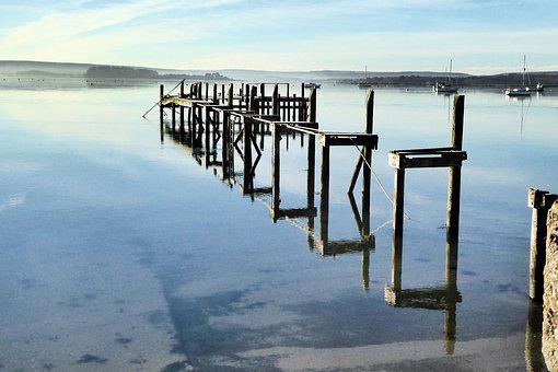 Water, Sea, Reflection, Pier, Nature, Outdoors, Sky