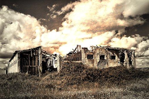 Smoking, Abandoned, Outdoors, Abandonment, Ruin, Old