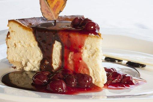 Cake, Cherry, Red, Sweet, Cheese Cake, Strawberry Cake