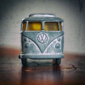 Old, Retro, Dirty, Toy Car, Vw Bulli, Toys, Miniature