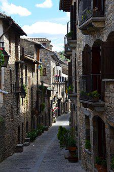 Street, Architecture, Old, House, City, Pyrenees, Lane
