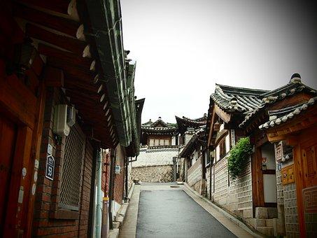Structure, Travel, City, Street, Outdoors, Hanok, Korea