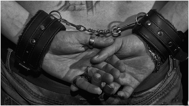 Weapon, People, Man, Crime, Handcuffs, Chains