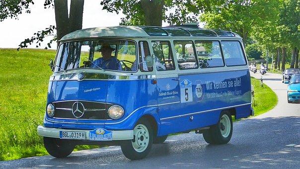 Auto, Vehicle, Transport System, Drive, Bus, Oldtimer