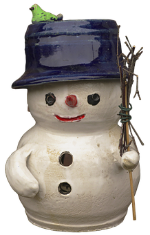 Snow Man, Figure, Ceramic, Face, Sculpture