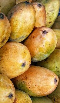 Ripe, Mango, Fruit, Yellow, Orange, Food, Healthy