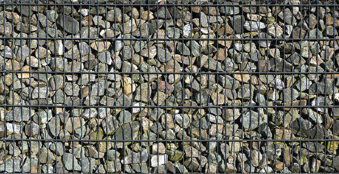Gabion, Stones, Gravel, Wire Rack, Wall, Demarcation