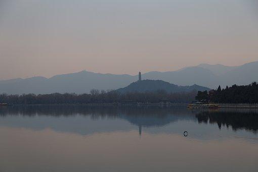 Waters, Lake, Reflection, Afternoon, Kunming Lake