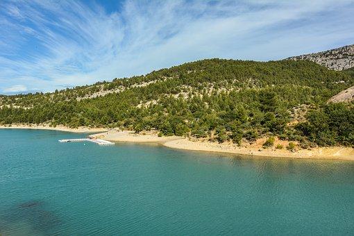 France, Lac De Sainte-croix, Lake, Travel, Holiday