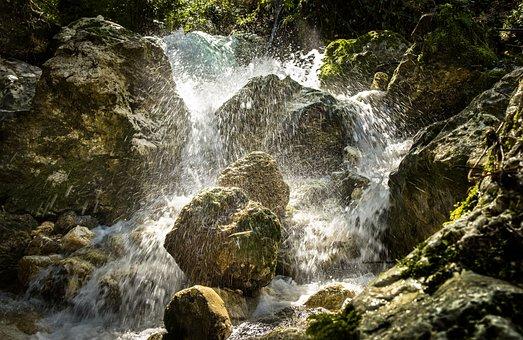 Torrent, Water, Momentum, Stream, Rocks, Ply, Landscape