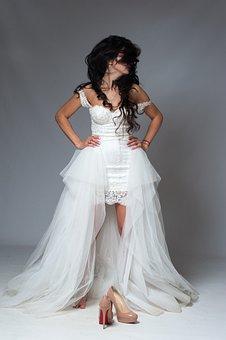 Fashion, Woman, Dress, Elegant, Charm, Model, Bride