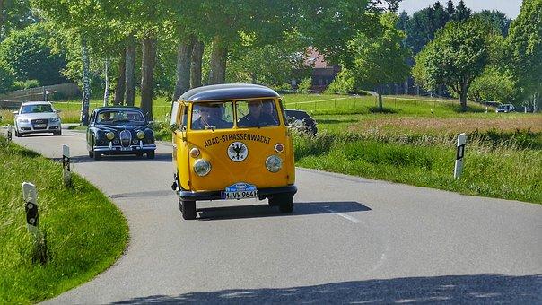 Road, Auto, Transport System, Asphalt, Drive, Oldtimer