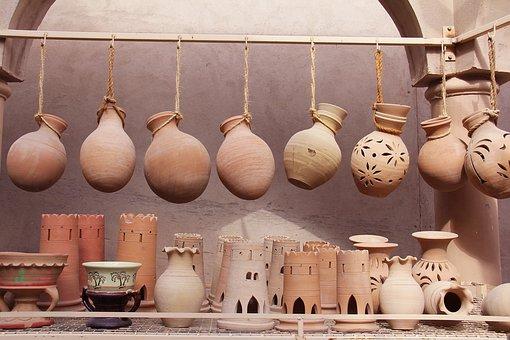 Nizwa, Nizwa Souq, Souq, Market, Oman, Pottery