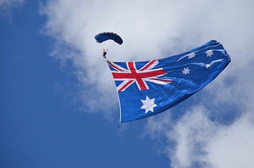 Wind, Sky, Freedom, Patriotism, Outdoors, Australia