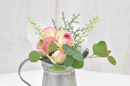 Leaf, Flowers, Plant, Vase, Pot Cookware, Eucalyptus