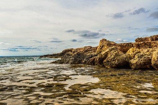 Coast, Rocky, Sea, Nature, Seashore, Sky, Clouds