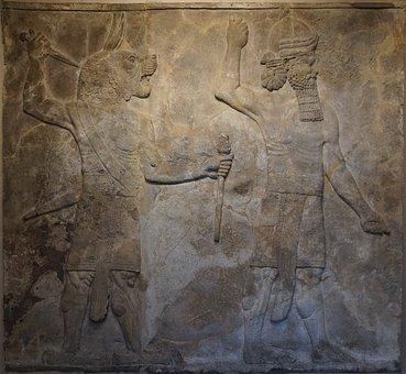 Art, Sculpture, Ancient, Low Relief, Decoration, Temple