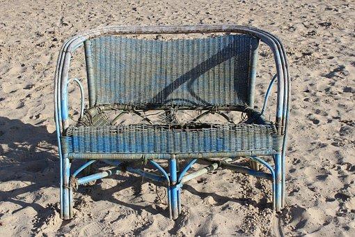 Empty, Seat, Summer, Bank, Chair, Artifact, Flotsam