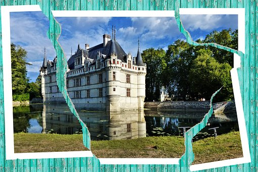 Architecture, France, Azay Curtain, Picture, Tears, Sky