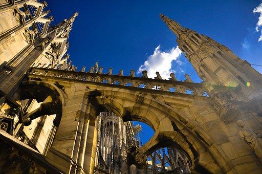 Architecture, Travel, Building, City, Sky, Milan, Duomo