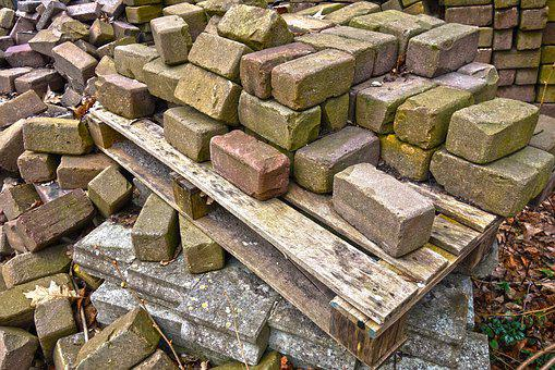 Bricks, Stone, Building Material, Stacked, Pallet