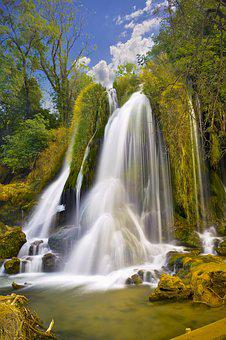 Waterfall, Water, Nature, Outdoors, River, Stream