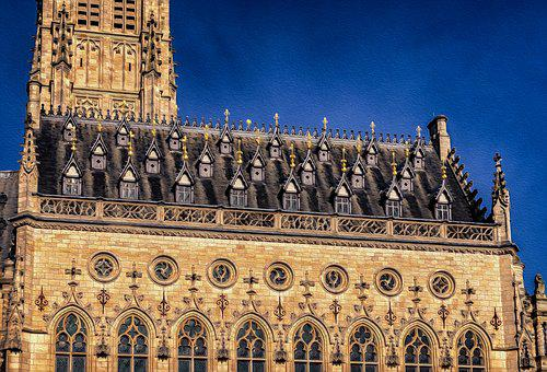 Facade, Town Hall, Architecture, Building, France
