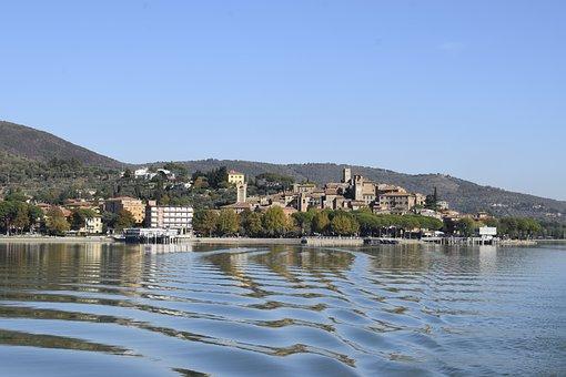 Water, Ferry, Island, Lake, Trasimeno, Lake Trasimeno