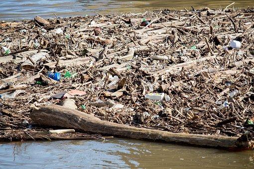 Garbage, Water, Pollution, Nature, Waste