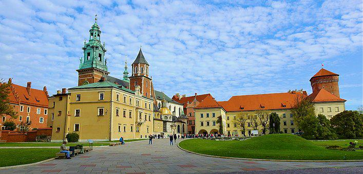 Architecture, Sky, Kraków, Wawel, Old, Monument