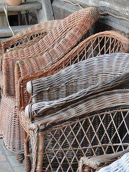 Wicker, Wooden, Weaving, Old