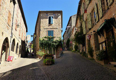 Architecture, France, City, Roadway, House, Street