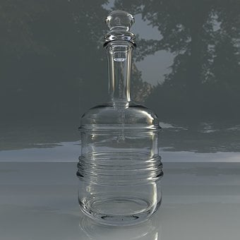 Glass Carafe For Water, Bottle