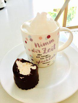 Cup, Chocolate, Coffee, Cream, Dessert