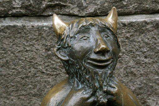 Sculpture, Statue, Old, Art, Antiquity, Lübeck, Devil
