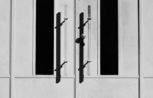 Door, House, Doorway, Monochrome, Doorknob, Exit, Entry