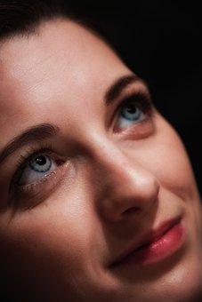 Woman, Eyes, Pupils, Contact Lenses, Face, Eyelashes