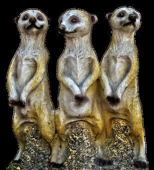 Meerkat, Group, Ceramic, Figurengruppe