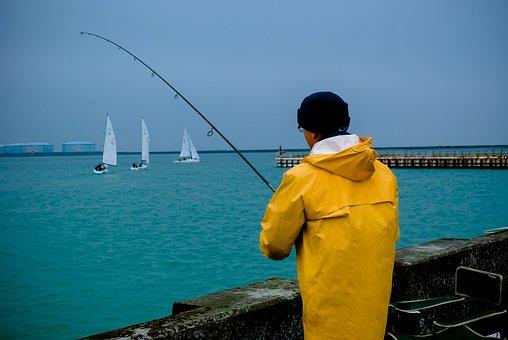 Body Of Water, Sea, Fisherman, Travel, Outdoor, Port