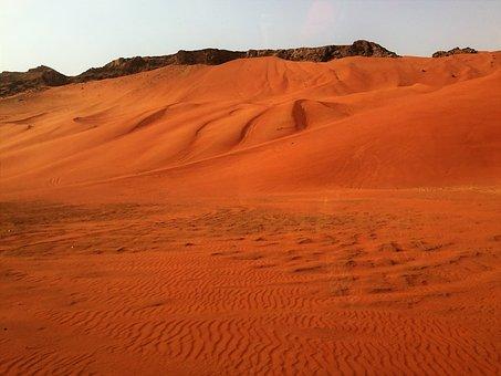 Dubai, Desert Safari, Rock, Fujairah, Desert, Sand