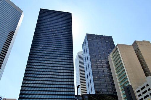 Office, Architecture, Glass Items, Skyscraper, Modern